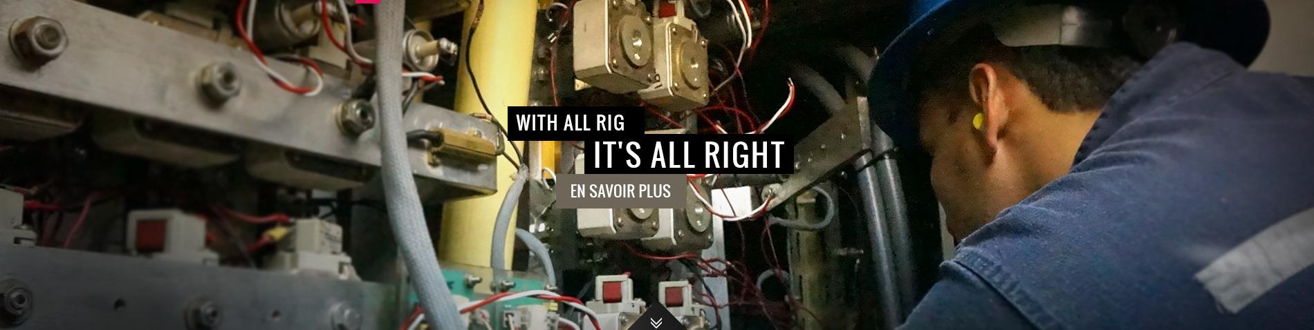 All-Rig, des experts en électrotechnique et informatique industrielle à votre service